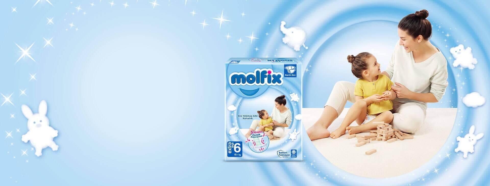 Molfix Extra Large  Bantlı Bebek Bezi