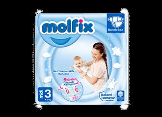 Molfix Midi Bantlı Bebek Bezi